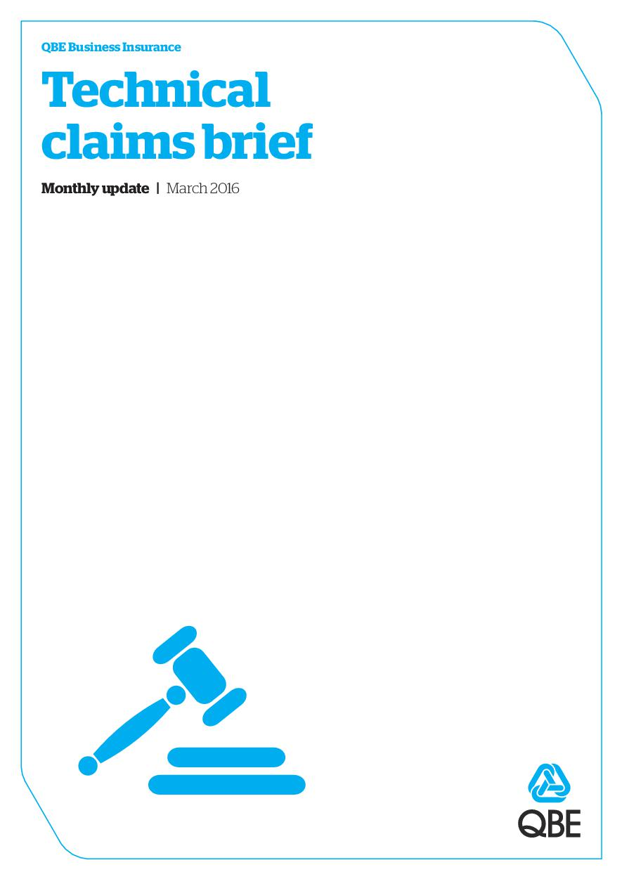 Technical Claims Brief - March 2016 (PDF 4.6Mb)